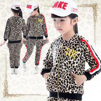 5T-6T Girl Spring / Autumn new arrival 2013 kids set girls autum suit girls clothes sexy Leopard grain set fashion girls wear