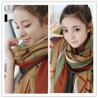 Wholesale Major Suit Style Lady Scarf Fashionistas Bali Yarn Geometric Pattern Long Floral Scarf Pashmina Shawl Winter And Autumn Gifts C0881