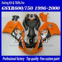 Carénages de motocycle pour 1996 1997 1998 1999 2000 suzuki GSXR600 GSXR750 GSXR 600 750 96 97 98 99 00 carton rouge orange noire brillant AC50