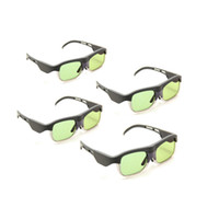 Wholesale 4Pcs Active Shutter D DLP Projector Glasses for Sharp BenQ Acer Optoma ViewSonic