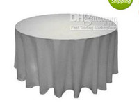 Wholesale 90 quot inch Round satin table cloths wedding tablecloth Fedex white color