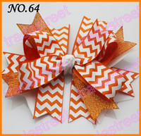 Wholesale fashion chevron hair bows boutique hair bows layered corker bows