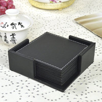 Wholesale Quality leather coasters leather heat pad western pad bowl pad table mats full set hmesi