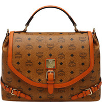 mcm 2013 - 2013 Latest Designer Fashion Lady Classical MCM Visetos Brown With Orange PVC Leather Shoulder Star Love Tote Handbag Bag For WOMEN