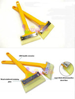 Ice Scraper plastic+ox-tendon 12 1pcs free ship ox-tendon car snow shovel snow removal de-icing tools wiper board film scraper car glass cleaning tool
