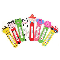 Wholesale drop retail Wooden Thermometer Fridge Cartoon Cute room refrigerator cm
