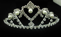 crown bridal hair accessories rhinestone chain 2013 high quality synthetic diamond and pearl crown fork comb Lightning delivery