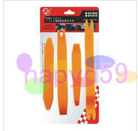 Wholesale 2set Universal set car stereo removal tools car modified DVD navigation audio installation and maintenance tools car radio removal tool