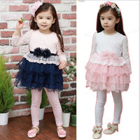 Wholesale Factory sale Year children clothing pure cotton top lace layer cake gauze girls long sleeve dress kids dresses TT260