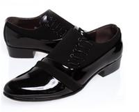 Wholesale NEW Fashion side lace up British gentleman shoes men leather shoes men s casual shoes men s wedding shoes dress shoes M67