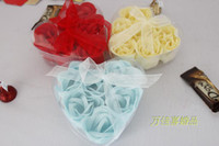 Wholesale Washing cleaning bath rose Flower paper petals soap wedding gift per box box