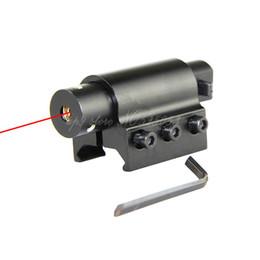 Tactical Hunting Gun Red Dot Laser Sights Scope + Gun Rifle Pistol 20mm Mount Free Shipping