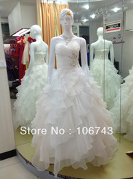 Wholesale best seller Sexy bride wear applique handmade Custom color crystal plus size real pictures beading bridal wedding dress