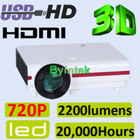 Wholesale Native P P Movie Home Theater HDTV Game D Projector LED Beamer HDMI USB Speaker Audio Out
