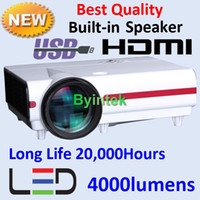 Wholesale HDMI USB Inch Big Image Lumens HD LED Video Projector Home Theater LCD Display Home I