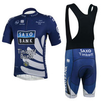 banks suits - bicycle jersey SAXO BANK cycling jersey blue short sleeve cycling Bib short suit saxo bank cycling clothing bib shorts