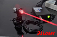 Wholesale 250mW long time working nm red laser module with power adapter and laser mounting bracket light matches quickly