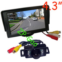 Wholesale 4 quot Car LCD Monitor IR Waterproof Car Rear View Reverse Backup Camera with M cable