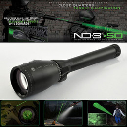 Drss Green Laser Designator Hunting Flashlight With Adjustable Scope Mounts&Battery&Weaver Mount For Night Searching Hunting Spotting ND3X50