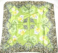 Wholesale Scarves new leopard print scarf imitation silk flower generous color optional