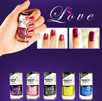 as show magnetic nail polish - 3D Fashion Magnetic Nail Polish Art Magnet Slice with Sealed Package