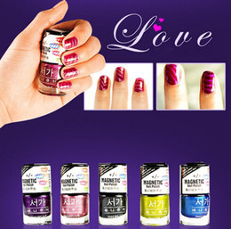 Wholesale 3D Fashion Magnetic Nail Polish Art Magnet Slice with Sealed Package