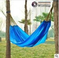 Hammocks and Cots   Bike outdoor recreational camping trip single portable indoor swing hammock parachute cloth