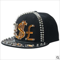 Wholesale 2013 Punk Rivet caps hip hop caps snapback caps snap back hats baseball caps hot caps hat