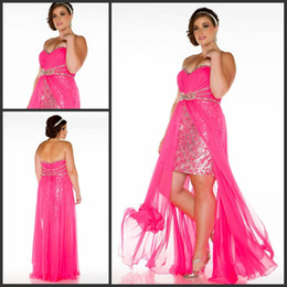Wholesale Sexy Plus Sizes Dress For LAdies A Line Empire Ruched Beaded Chiffon Floor Length Special Occasion Dresses