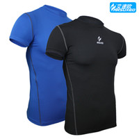 Wholesale Men Cycling Bike Bicycle Biking Running Football Basketball Outdoor Sports Summer Short Sleeve Jersey Cycling Wear M XXXL Blue Black
