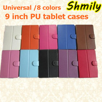 other other PU Universal 9 inch Lichee Pattern flip Case Cover PU leather for Universal Brand tablet pc 8 colours for choose