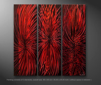 contemporary oil paintings - Contemporary Abstract Painting Buy Online Hand Painted Oil Painting on Canvas Red Artwork for Wall Decoration Framing Artwork Supply