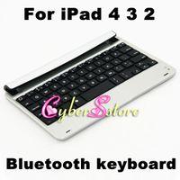 Wholesale Ultrathin Aluminum Alloy Bluetooth wireless keyboard for Apple ipad thin Case accessories