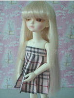 Wholesale Dolls Sytle Long Straight Wigs With Neat Bangs Blonde Hair Wigs Cosplay Lovely Wigs Party Hairstyle