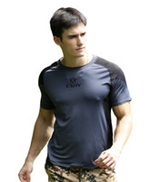 Wholesale Outdoor Sports Mens High Wicking Quick Drying Lightweight Short Sleeve T Shirt Gray amp Black