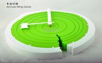 Digital   Annual Ring Clock Colorful Fashion Clock Creative Wall CLock Clocks 1.5v 130UA 32pcs lot