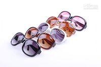 Resin Lenses big cheap frames - Big Frame Fashion Women Sunglass Vintage Cheap Plastic Brand Designer Oversize Sunglasses