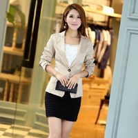 Wholesale 020 womens new fashion Korean one button slim fitting blazers suits spring autumn jacket coat plus size M XL
