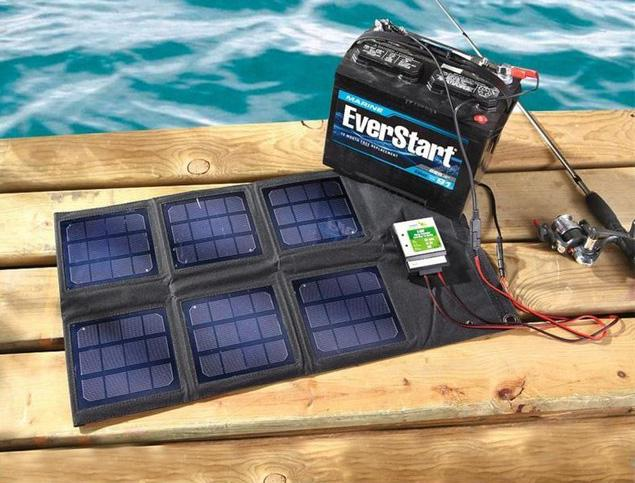 18 watt folding solar panel battery charger 12v solar. Black Bedroom Furniture Sets. Home Design Ideas