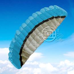 hot sale 2.5 m 2 Line Stunt Parafoil POWER Sport Kite Blue Free Shipping!!
