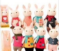 Wholesale Baby Cute Multicolored Bunny Toys Rabbit Plush Dolls Kids Animal Hare Stuffed Baby Toys Children Gifts B0727