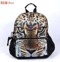 Wholesale 3D Backpack Handbag School Bag Leopard Elephant Wolf Lion Image Polyester New B19