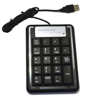Wholesale New Black Keys USB Numeric Number Keypad Keyboard For Laptop Desktop PC Tonsee