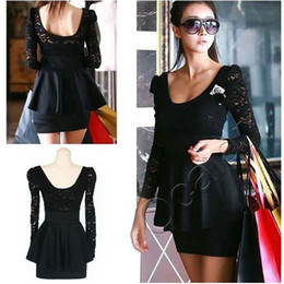 Wholesale Women s Lady Long Sleeve Lace Slim Short Mini Pencil Work Tunic Dress Hot Sale Sexy Dresses E0134