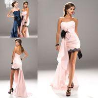 Reference Images Sweetheart Chiffon ZPD-211 Free Shipping!Pink peacock blue lace edge feather chiffon long semi formal prom dress