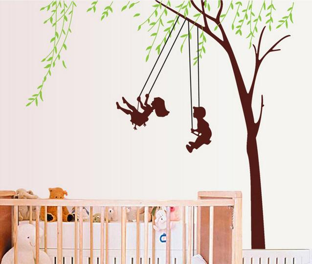 Removable Kids Room Wall Decor On The Swings Wall Art Stickers Nursery Wall  Decals 60X90cm Wall Decal Online With $6.02/Piece On China_craftsu0027s Store  ...