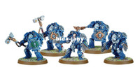 Wholesale Exquisite Warhammer k Models Space Marine Terminator Close Combat Squad Warhammer Resin model