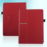 "For Kindle   EP4932 Magnetic PU Leather Case Cover Stand Holder For Barnes & Noble Nook HD 9"" Red"