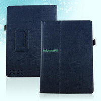 "For Kindle   EP4934 Magnetic PU Leather Case Cover Holder For Barnes & Noble Nook HD 9"" Dark Blue"