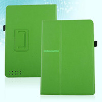"For Kindle   EP4935 Magnetic PU Leather Case Cover Stand Holder For Barnes & Noble Nook HD 9"" Green"